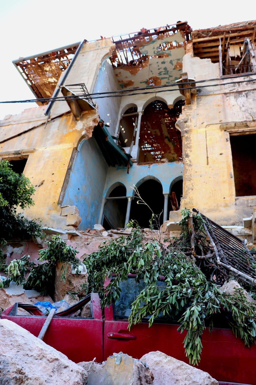 Beirut zerstörtes Haus
